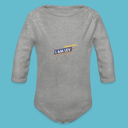 I AM LEV Banner - Baby bio-rompertje met lange mouwen
