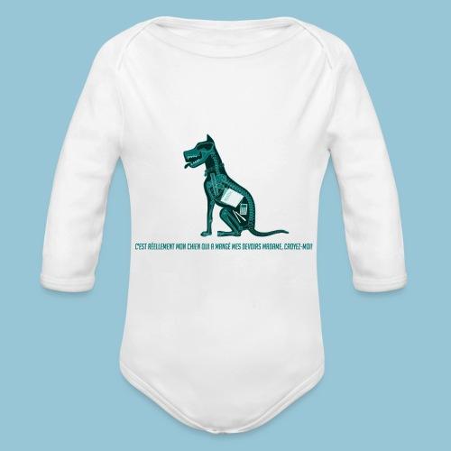 T-shirt pour homme imprimé Chien au Rayon-X - Body Bébé bio manches longues