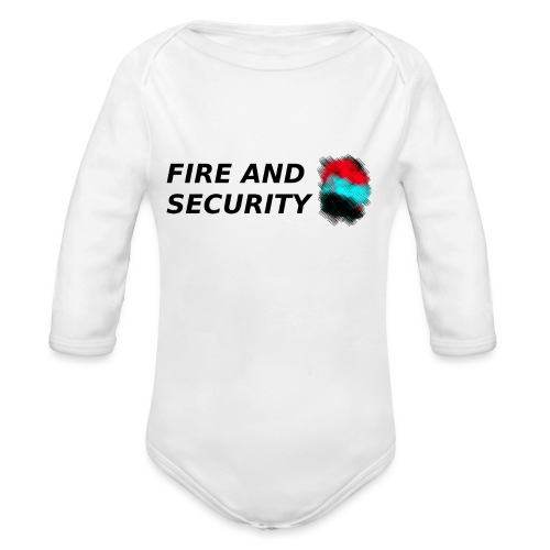 Fire and Security T-shirt - Organic Longsleeve Baby Bodysuit