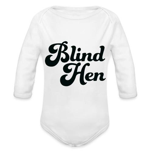 Blind Hen - Logo Lady fit premium, blue - Organic Longsleeve Baby Bodysuit