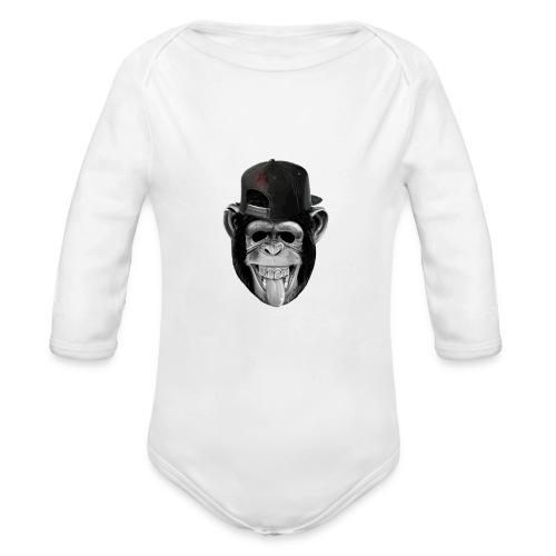 Logo Crazy Monkey - Body ecologico per neonato a manica lunga