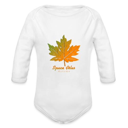 Space Atlas Long Sleeve T-shirt Autumn Leaves - Langærmet babybody, økologisk bomuld