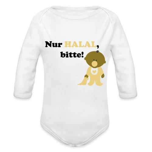 Nur Halal, bitte! Babylätzchen (männlich) - Baby Bio-Langarm-Body