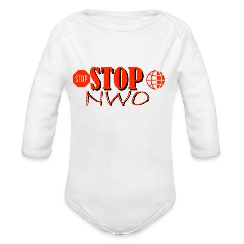 STOPNWO1 - Ekologiczne body niemowlęce z długim rękawem