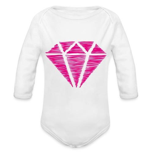 Diamante rosa - Body orgánico de manga larga para bebé
