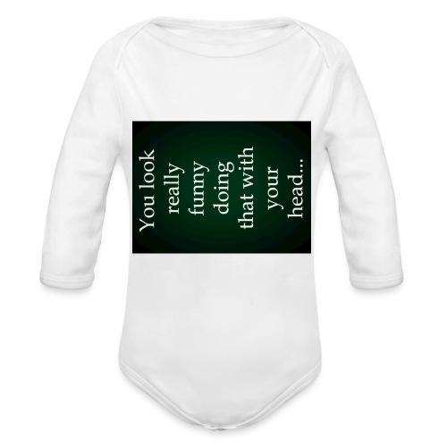 funny - Baby bio-rompertje met lange mouwen