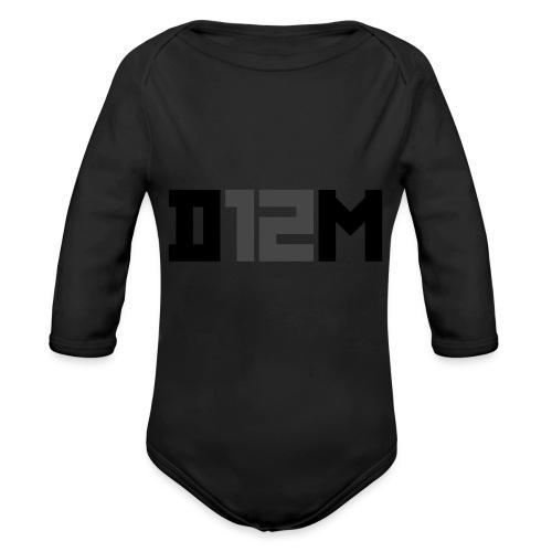 D12M: SHORT BLACK - Baby bio-rompertje met lange mouwen