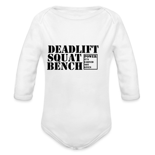 The Big 3 - Organic Longsleeve Baby Bodysuit
