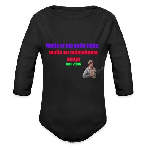 Jusun kuuluisa lausahdus - Vauvan pitkähihainen luomu-body