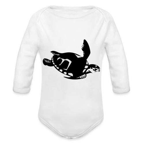 Green Turtle Schildkröte - Baby Bio-Langarm-Body