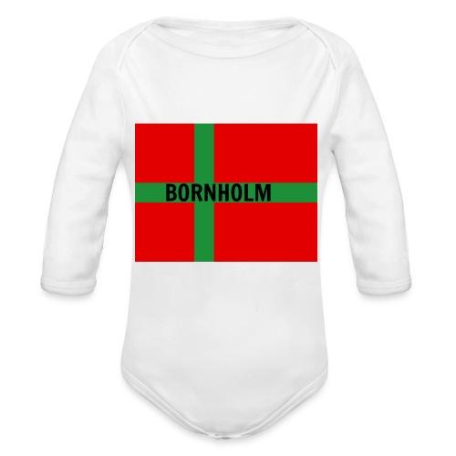 BORNHOLM - Langærmet babybody, økologisk bomuld