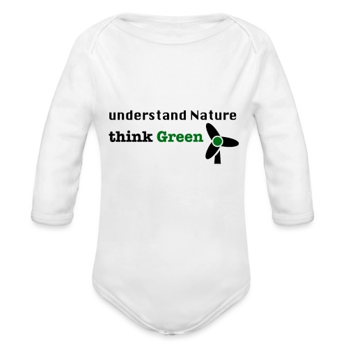 Understand Nature. Think Green! - Organic Longsleeve Baby Bodysuit
