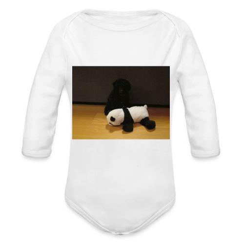 Maggie och pandan - Ekologisk långärmad babybody