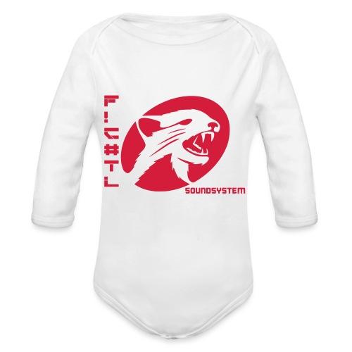 F!€#TL Soundsystem Rot - Baby Bio-Langarm-Body