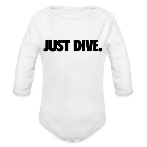 just, dive, nur - Ekologiczne body niemowlęce z długim rękawem