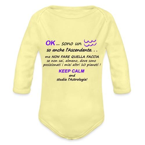 ACQUARIO - Body ecologico per neonato a manica lunga