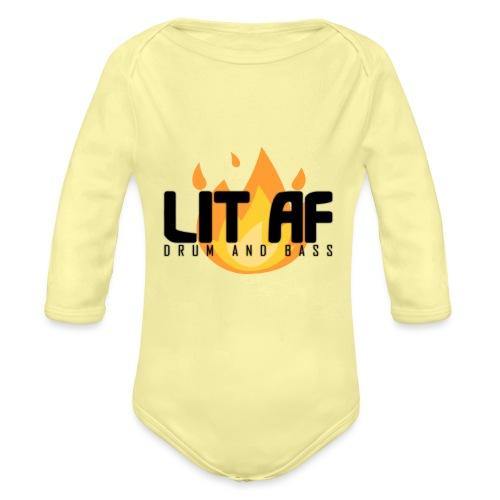 LIT AF Drum and Bass - Baby Bio-Langarm-Body