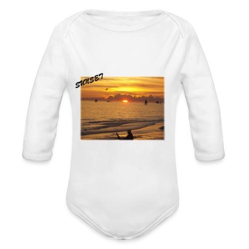 Sunset - Baby Bio-Langarm-Body