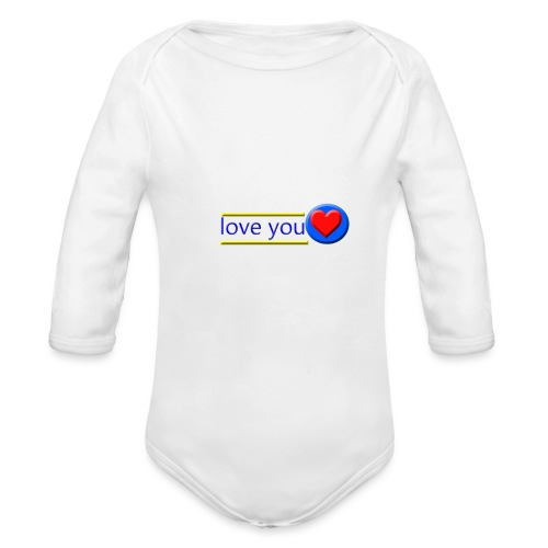 love you - Organic Longsleeve Baby Bodysuit