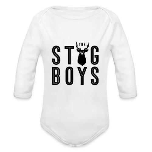 THE STAG BOYS - Organic Longsleeve Baby Bodysuit