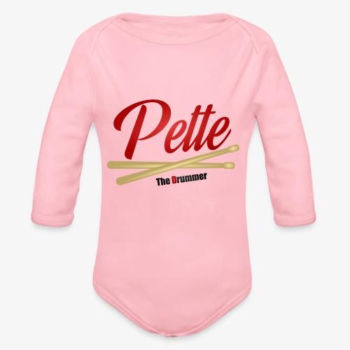 Pette the Drummer - Organic Longsleeve Baby Bodysuit