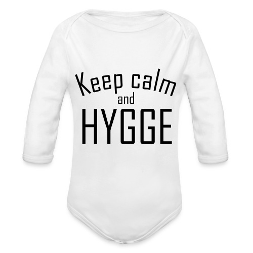 HYGGE - Keep calm - Baby Bio-Langarm-Body