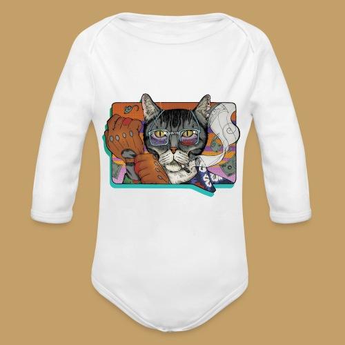 Crime Cat - Ekologiczne body niemowlęce z długim rękawem