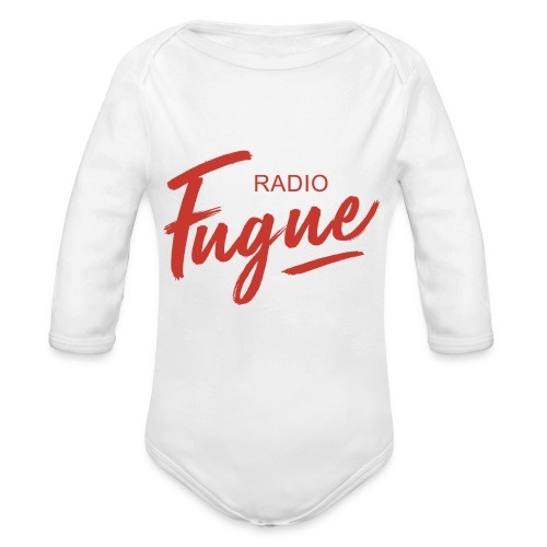 Radio Fugue Red - Body bébé bio manches longues