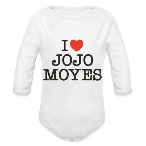 I LOVE JOJO MOYES - Langærmet babybody, økologisk bomuld