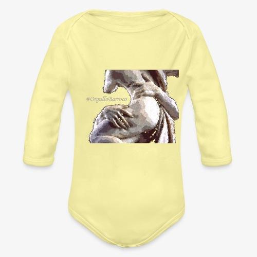 #OrgulloBarroco Rapto difuminado - Body orgánico de manga larga para bebé