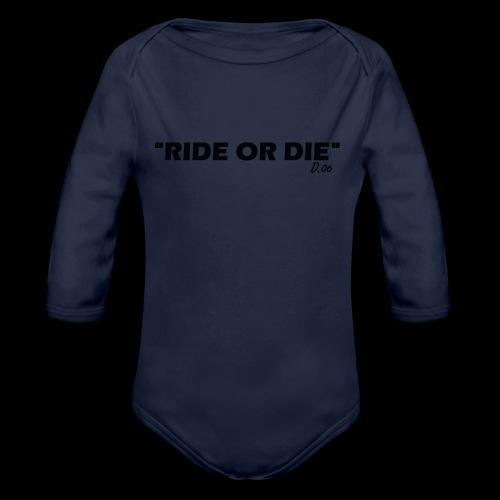 Ride or die (noir) - Body Bébé bio manches longues