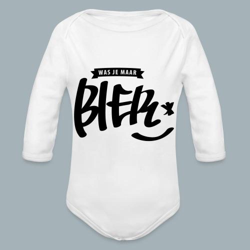 Bier Premium T-shirt - Baby bio-rompertje met lange mouwen