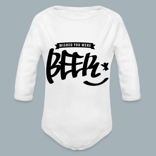 Beer Premium T-shirt - Baby bio-rompertje met lange mouwen