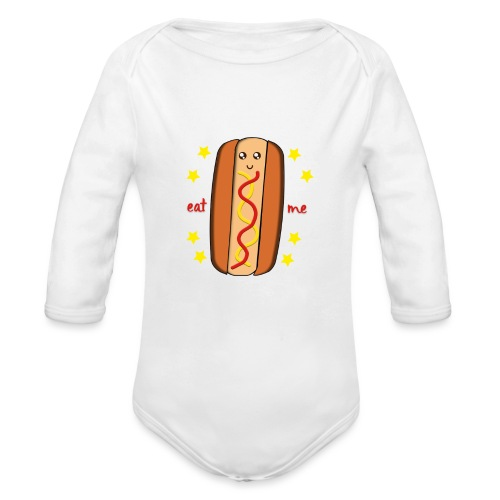 hotdog - Body Bébé bio manches longues