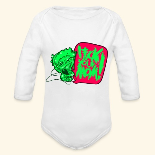 IF @ # * K YOUR MOM! - Organic Longsleeve Baby Bodysuit