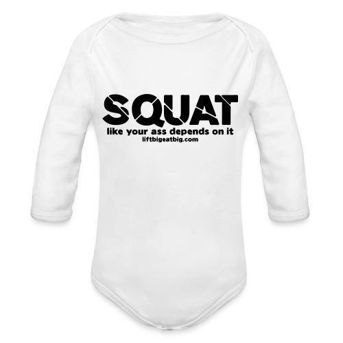 squat - Organic Longsleeve Baby Bodysuit