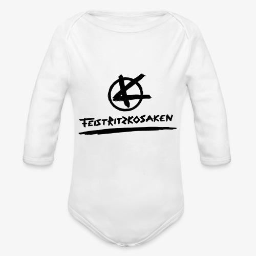 Feistritzkosaken Logo dunkel - Baby Bio-Langarm-Body