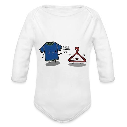 HANG OUT - Organic Longsleeve Baby Bodysuit