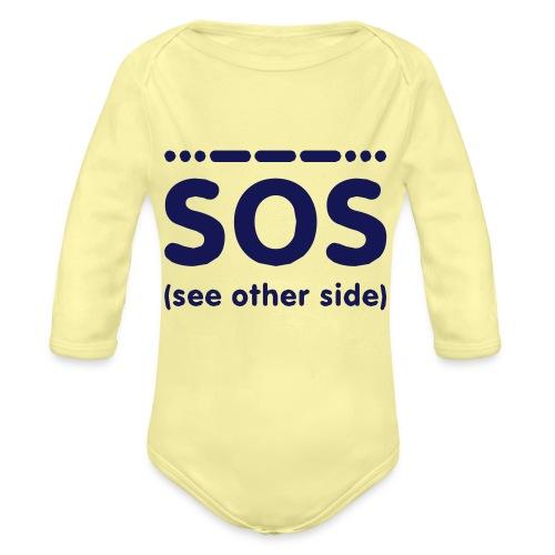 SOS - Baby bio-rompertje met lange mouwen