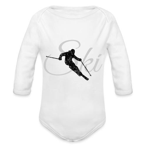 Ski Skifahren, Skifahrer - Baby Bio-Langarm-Body
