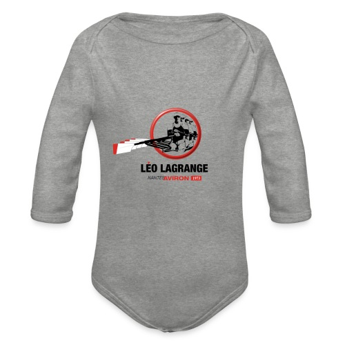 Léo Lagrange Nantes Aviron - Body Bébé bio manches longues