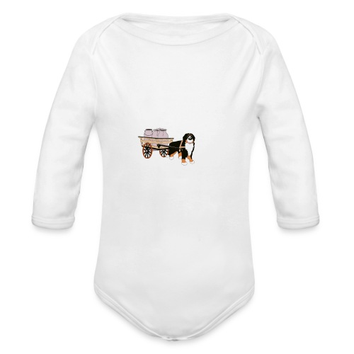 bernerhane drag - Ekologisk långärmad babybody