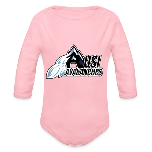 USI Avalanches white - Baby Bio-Langarm-Body