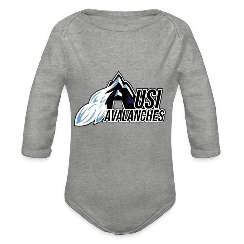 USI Avalanches white - Baby Bio-Langarm-Body