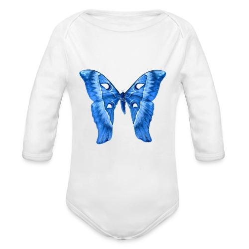 Herkules Falter Blau - Baby Bio-Langarm-Body