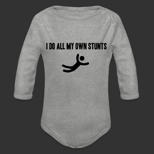 T-shirt, I do all my own stunts - Ekologisk långärmad babybody