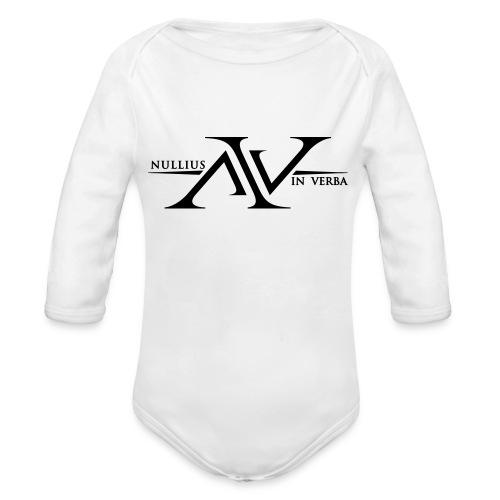 Nullius In Verba Logo - Organic Longsleeve Baby Bodysuit