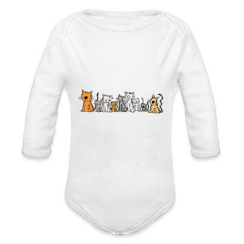 Cats & Cats - Baby bio-rompertje met lange mouwen