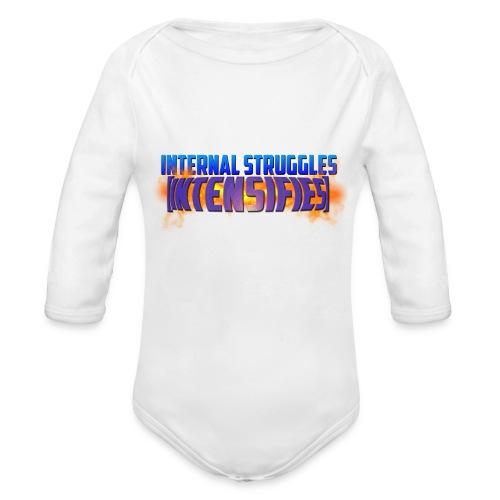INTERNAL STRUGGLES INTENSIFIES - Organic Longsleeve Baby Bodysuit