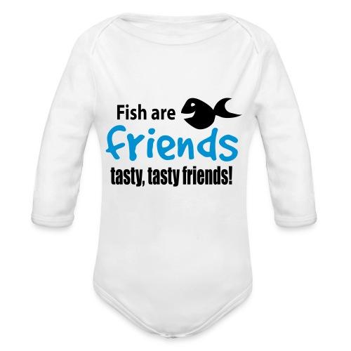 Fisk er venner - Økologisk langermet baby-body